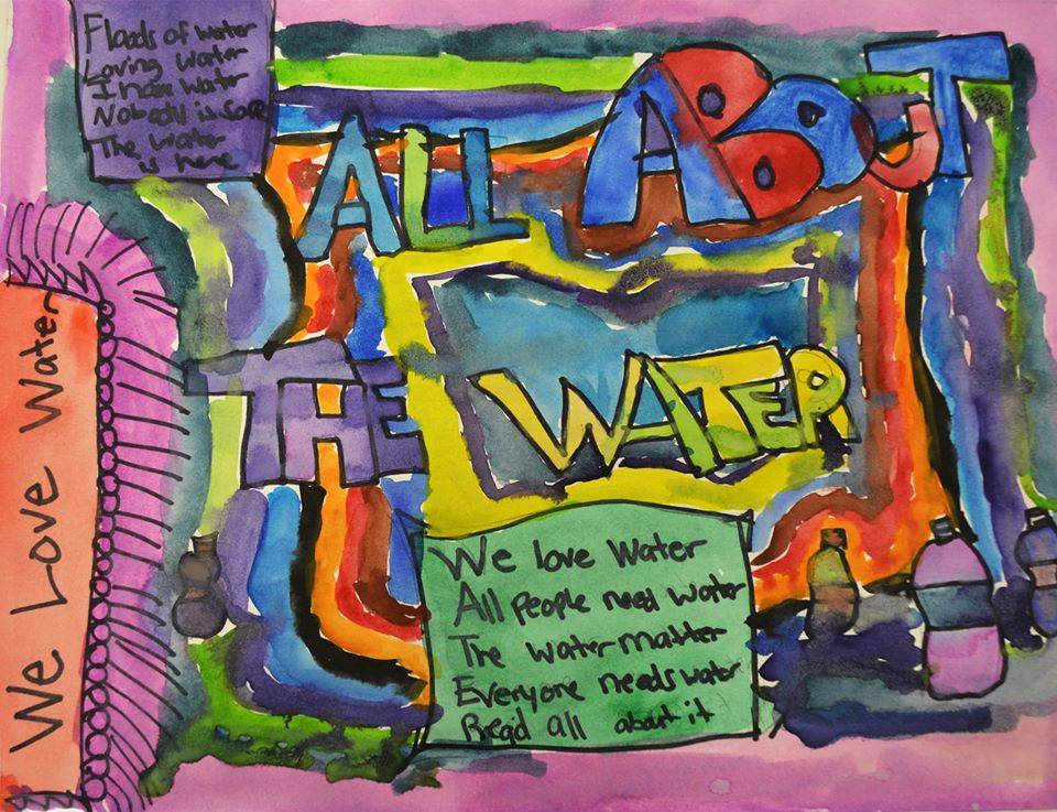 Drawing created by 8th grader, Teonnie G., at Linden Charter School in Flint, Michigan in response to the Flint water crisis.